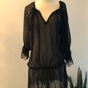 Other - Black sheer cover up - M. Worn once